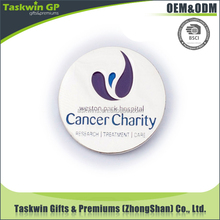 custom baby metal badge for cancer charity Made in China round shape nickel metal badge