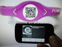 Scannable QR code Wristband