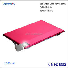 alibaba express in electronics,new products 2015,credit card power bank 1500mAh by Geedin