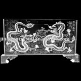 New fashion china engraving dragon crystal for home office decoration business gift