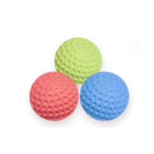 New arrival promotional high Wholesale 6.3cm Rubber Golf Boxing Training Blal Foam Golf Ball