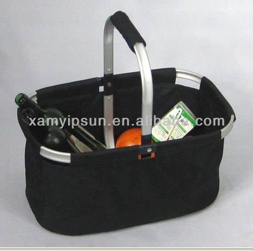 Custom 600D Polyester Collapsible Shopping Basket