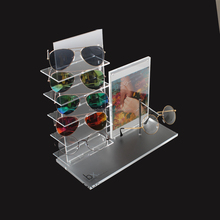 6 Pairs Acrylic Glasses Eyewear Display Stand For Sunglasses, Acrylic Sunglasses Display Rack, Sunglasses Display Stand