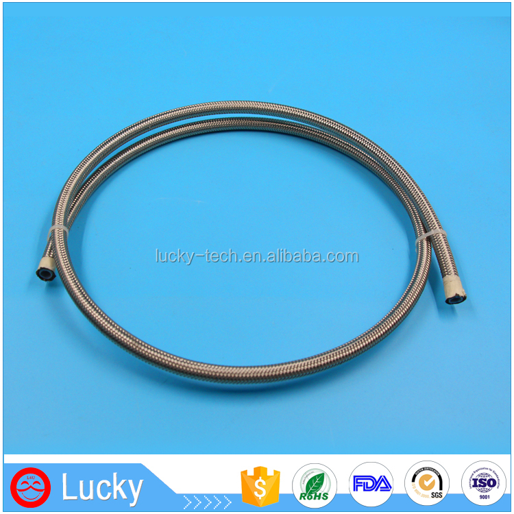Hot products weather resistant 5/16 inch SUS 304 stainless steel braided teflon ptfe tube