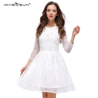 Manufacturer supply new sexy temperament custom made screen cloth sequins 2018 white dress women clothes