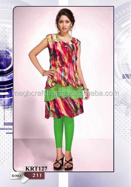 WHOLESALE PARTY WEAR TOPS-DESIGNER NEW FASHION GEORGETTE KURTIS-PARTY WEAR TOPS TUNIC/ KURTIS
