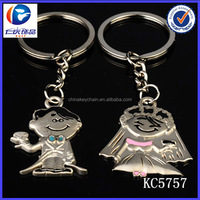 yiwu trading company custom men and women married key chain wholesale for wedding gifts