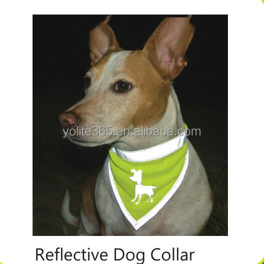 Hot Sales Highly Visible Pet Safety Reflective Dog Scarf collar with Adjustable Velcro