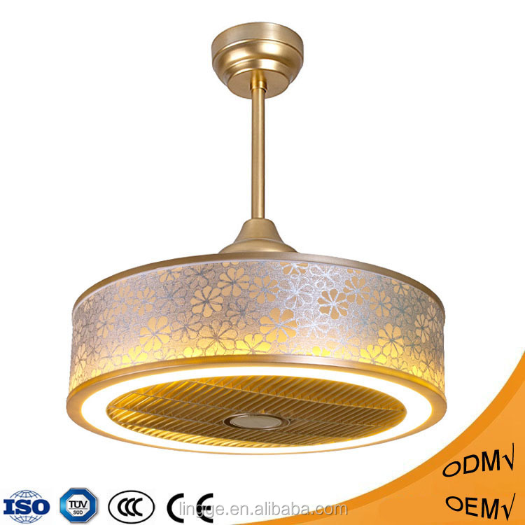 New arrival unique design decoration ceiling fan with LED light