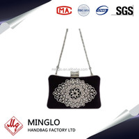 2016 wholesale leather diamante crystal clutch evening bags
