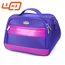New style design High quality portable trolley multifounction luggage purple travel bag