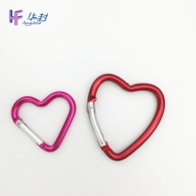Promotion Custom heart shaped Aluminum Climbing Colorful Carabiner