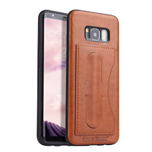 PU leather back cover cell phone case for Samsung galaxy s8 case OEM