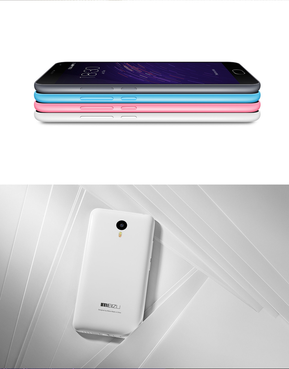 Original Meizu Note 16G 32G 4G LTE FDD Android 5.0 OS Octa Core 5.5 inch 1080P 2GB RAM 13MP Meizu M2 Note Phone