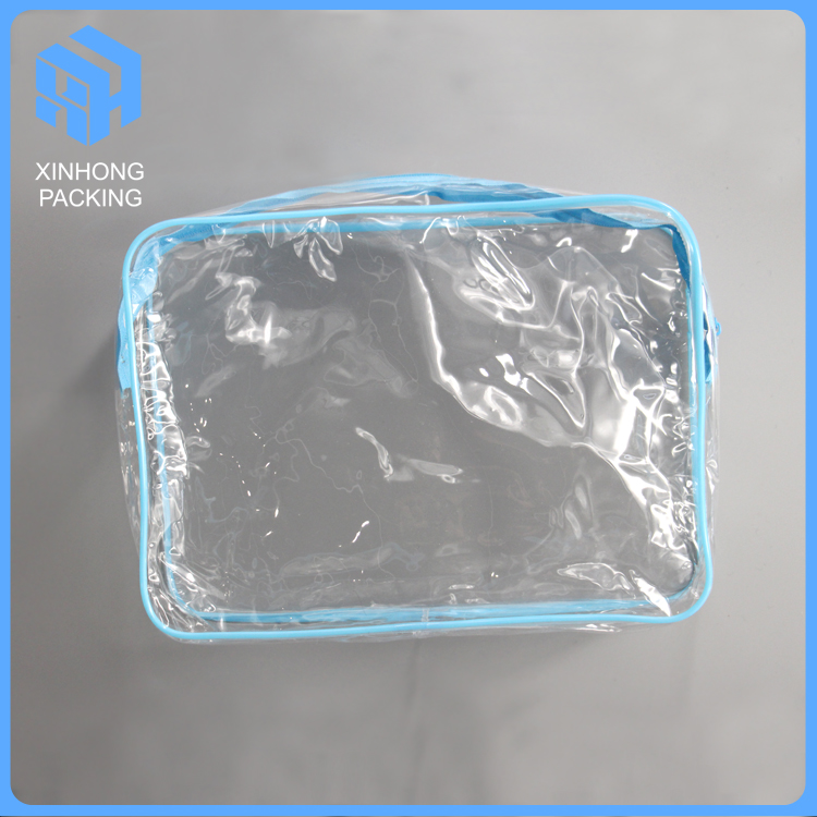 Eco-friendly transparent pvc zip lock pouch/pvc waterproof cosmetic bag