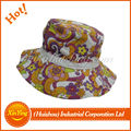 Customize hot design floral girls colorful bucket hat