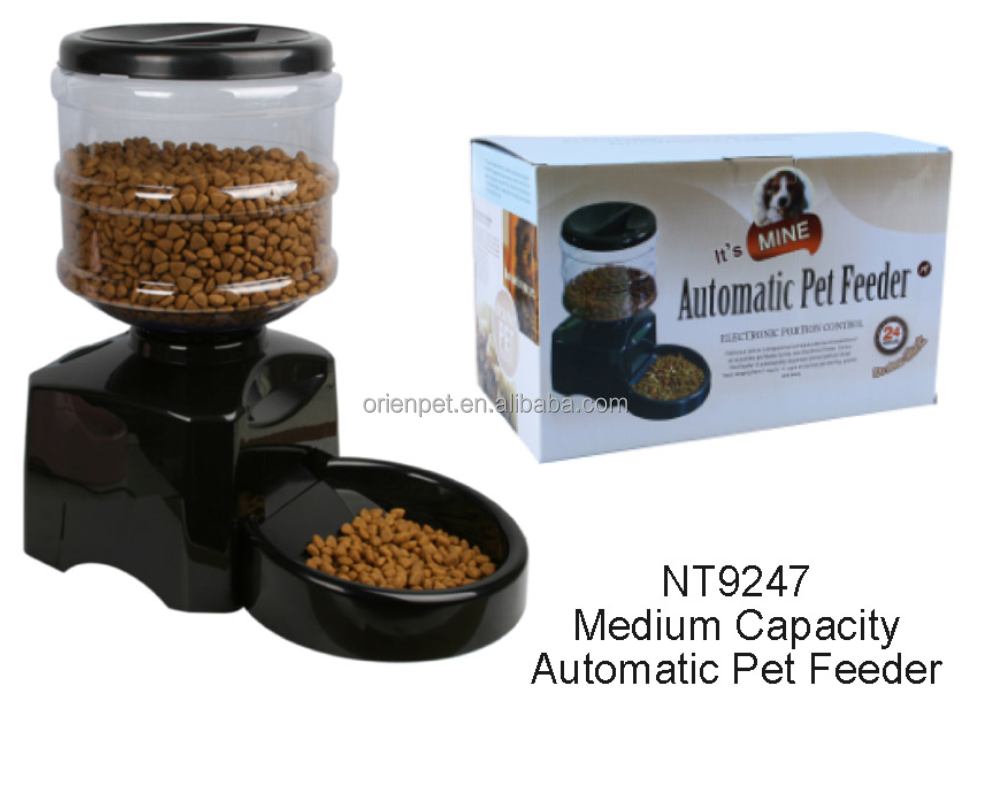 Automatic plastic pet dog feeder NT9247