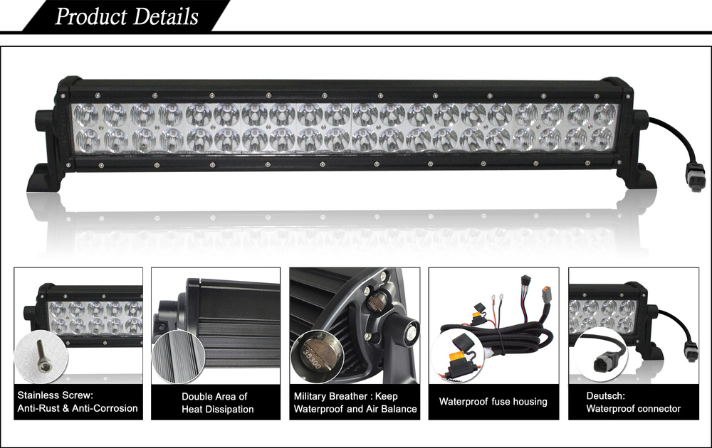 AURORA E-Mark 30 inch all weather off road led light bars