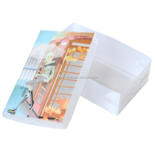 Foldable PP Upper And Lower Lid Shoebox Storage Box With Printing Patterns