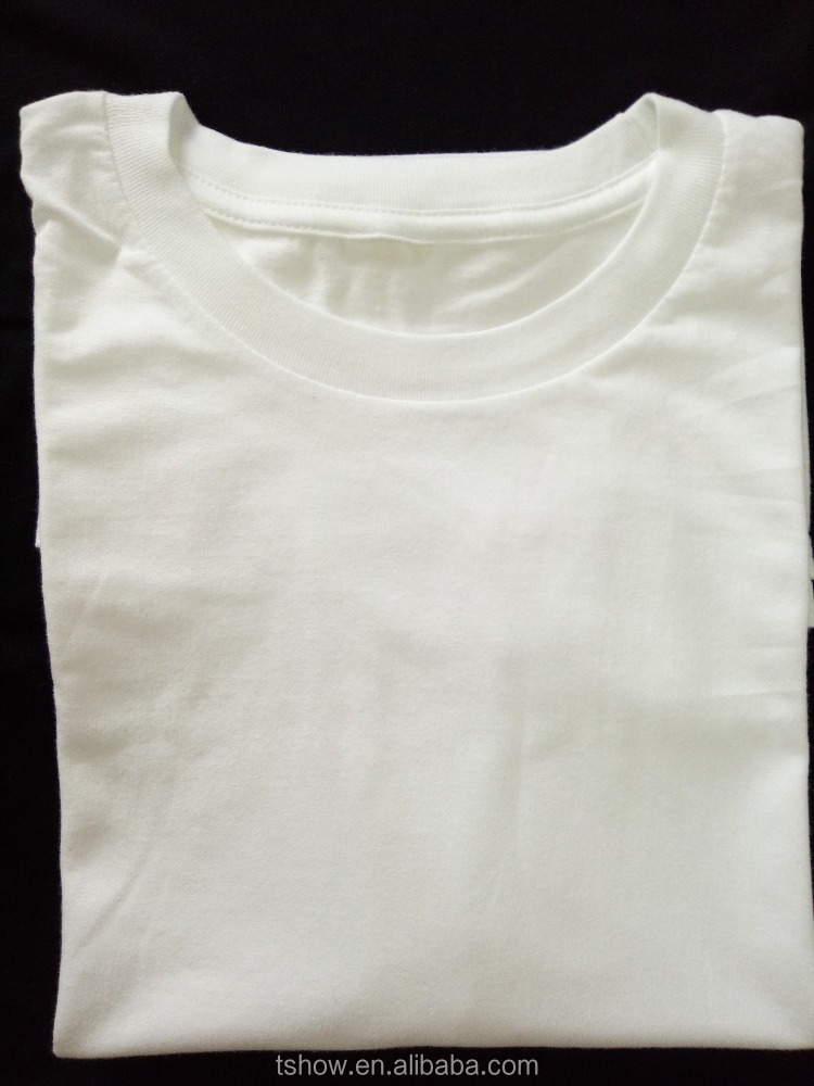 white t-shirt ,blank plain white combed cotton men's t shirt wholesale cheap