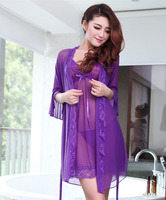 Factory directly supply Europe and America stylish assorted colors women's Lace nightgown sexy pajams europe evening dresses