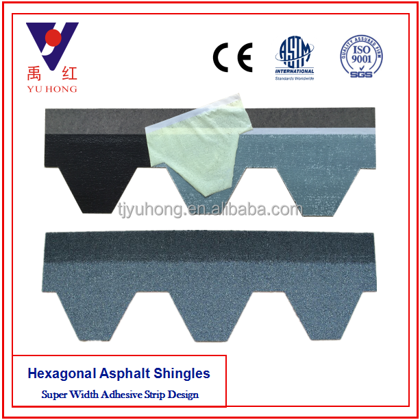 Hot sale Blue Gray Mosaic Asphalt Shingle