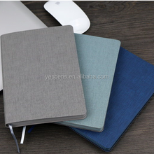 A5 B5 PU fabric hard cover notebook with company name