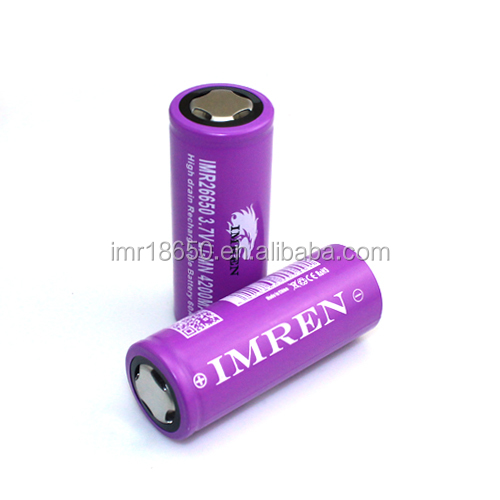 Best sell IMREN 26650 60A 4200mah power bank battery IMREN 26650 60a Lithium Battery pack 3.7 li ion battery