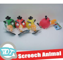 (18CM) soft plastic birds with screech vivyl animal toys rubber toy