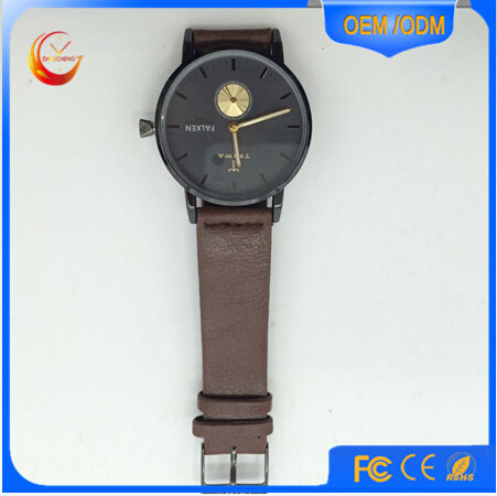 Direct Factory Price watch movement parts Zinc Alloy Case watch genuine leather / PU Strap watch