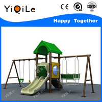 Nursery School Toys Outdoor Playground Slide and Swing For Kids Set