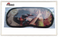 custom logo printed Microfiber sleep eye mask