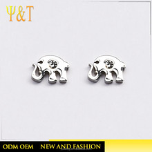 Jingli Jewelry Gift For Kids Long Nose Elephant Shaped Silver Stainless Steel Ear Studs(YJ-0264)
