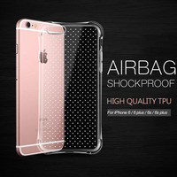 Taoyaun Clear TPU Rubber Skin Case For Apple iPhone 6 with Ultrathin Protective Transparent rugged cover