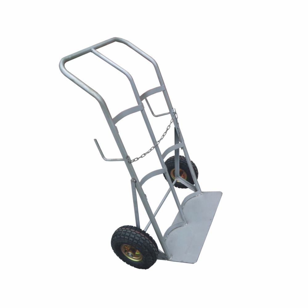 150 KG Capacity Pneumatic Wheel Double Cylinder Trolley Hand Truck