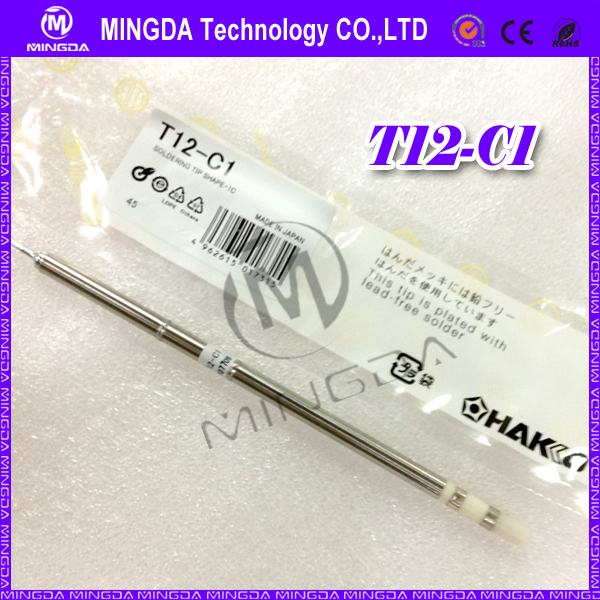 wholesale 5pcs/lot HAKKO FX951 Soldering tips T12-C1 soldering tips/HAKKO T12 tips