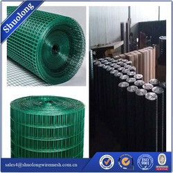 Green Garden Fence PVC Coated Welded Wire Mesh Pet Fencing