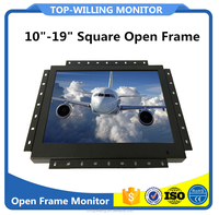 10 inch open frame lcd touch screen monitor with HD MI, DVI, VGA input