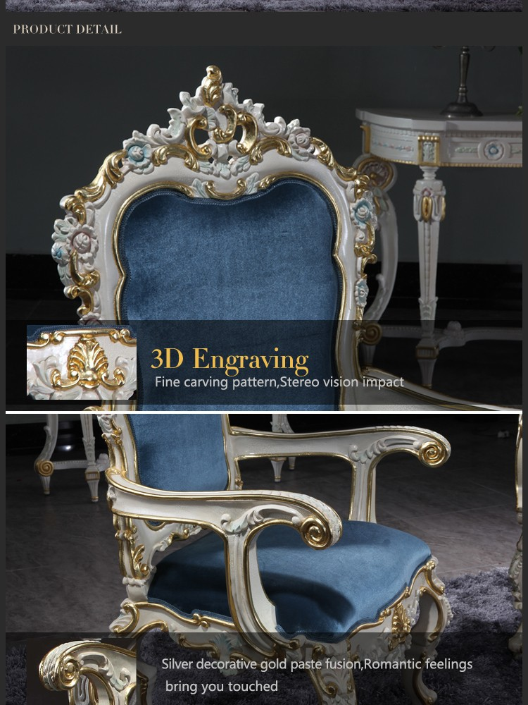 italian style furniture baroque cracking paint handcraft dining chair armchair