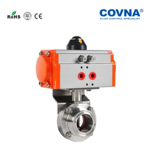 Sanitary Butterfly Valve and Single Acting with Pneumatic Actuator