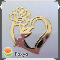 Customized fashion shiny gold metal decorative logo label sticker