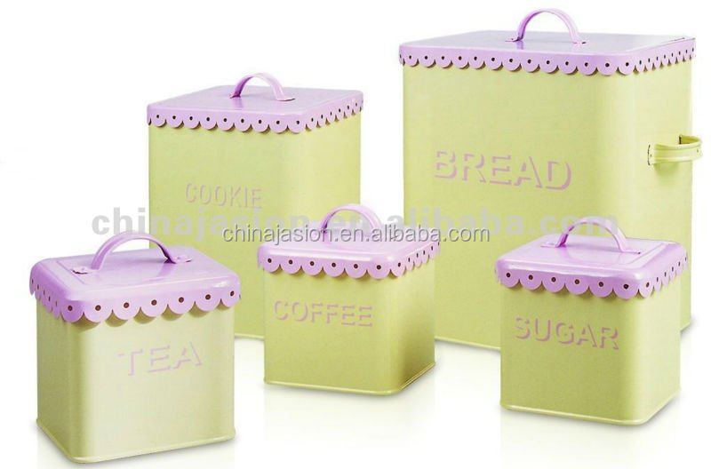 bread bin /tea sugar coffee bin set