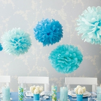 Cheap tissue paper pom poms/Artificial paper flowers for weddings/Hanging flower paper ball decorations