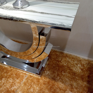 modern stainless steel frame mirrored console table
