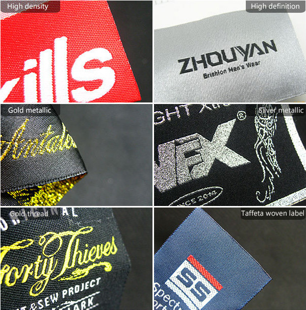 custom low minimum woven garment label garment patch for headbands