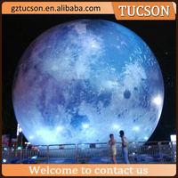 Beautiful giant inflatable moon ball balloon with led light for event
