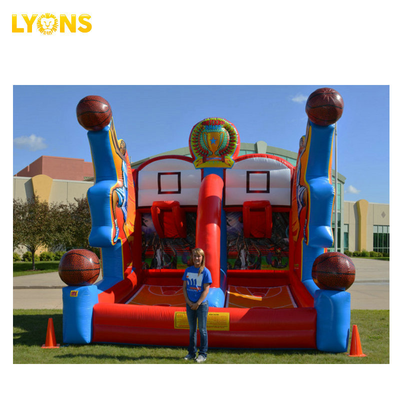 Commercial inflatable interactive shooting stars inflatable basketball game bounce house