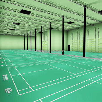 Superior Quality PVC Badminton Court Mat with Blocks Texture