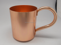 Customized Moscow Mule Solid handle Copper Cup Mug 16 oz For Use Restaurant Bar Beer