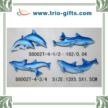Polyresin dolphin fridge magnet